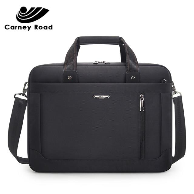Carneyroad 비즈니스 남성 서류 가방 15.6 인치 노트북 가방 옥스포드 방수 남자 핸드백 캐주얼 메신저 가방 패션 2019