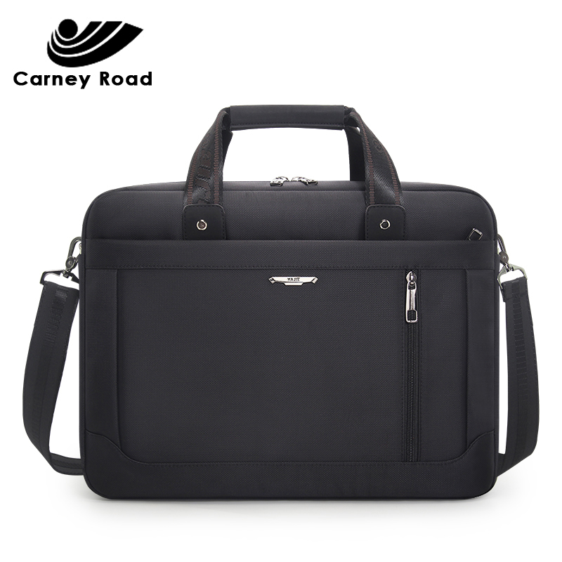 Carneyroad Business Men Briefcase 15.6 Inch Laptop Bag Oxford Waterproof Men Handbag Casual Messenger Bags Fashion 2019