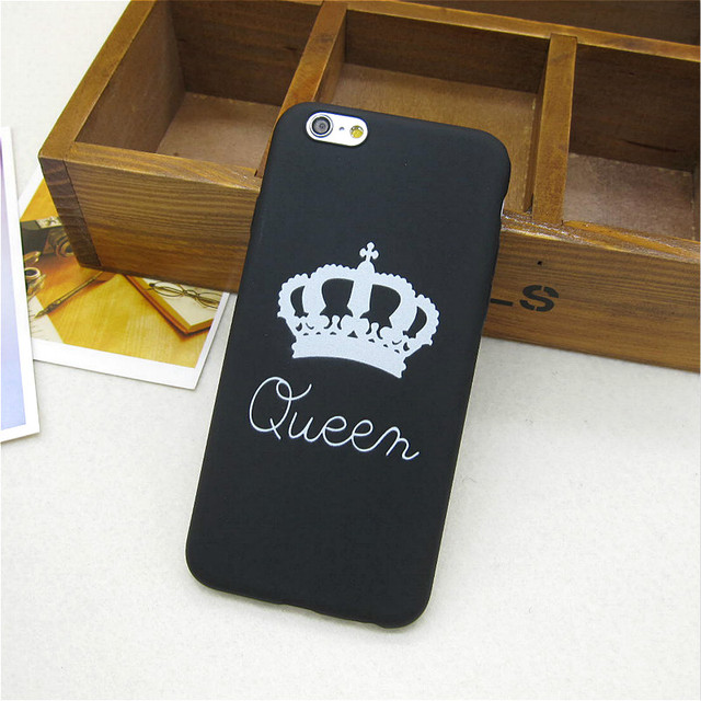 Brand King Queen Soft TPU Ultra Thin Back phone Cases