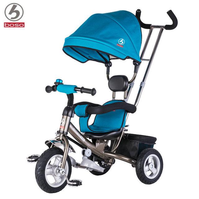 Boso 2017 superventas del bebé triciclo de tres ruedas de 10 pulgadas de la rueda delantera bicicleta niño andador bebé bici