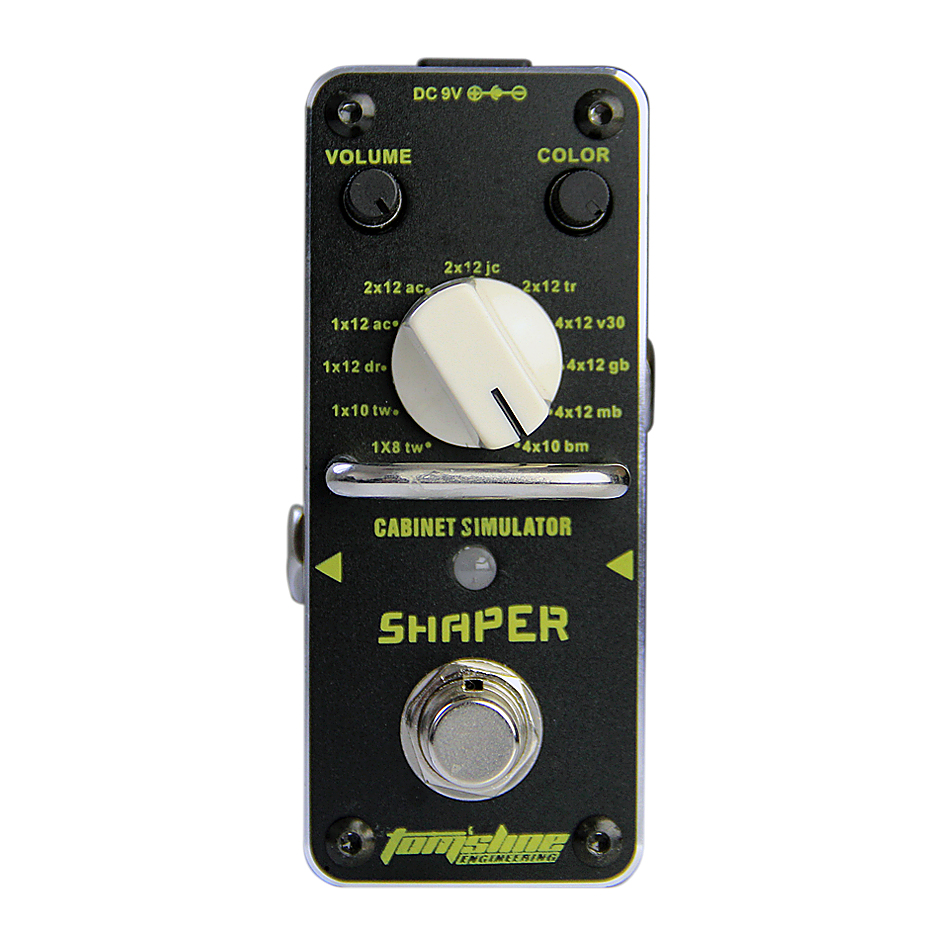 AROMA ASR-3 SHAPER Classic Cabinet Simulator Guitar Analogue Effect True Bypass Durable Metal Shell aroma tom sline amd 3 metal distortion mini guitar effect pedal analogue effect true bypass