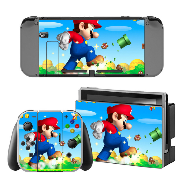 Mario Vinyl Skin Sticker for Switch Console Protector Cover Decal Vinyl Skin for Skins Stickers 5