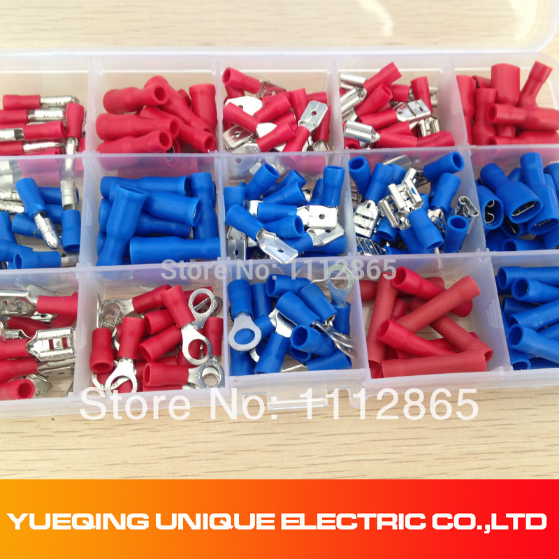 200PCS Assorted Crimp Terminals Set, Wire Connector Kit With Ring Spade Bullet Male/ Female Piggy Back Free Shipping 50 set kit vh3 96 3 96mm 4 pin female 22awg wire with male connector a set include socket plug terminals