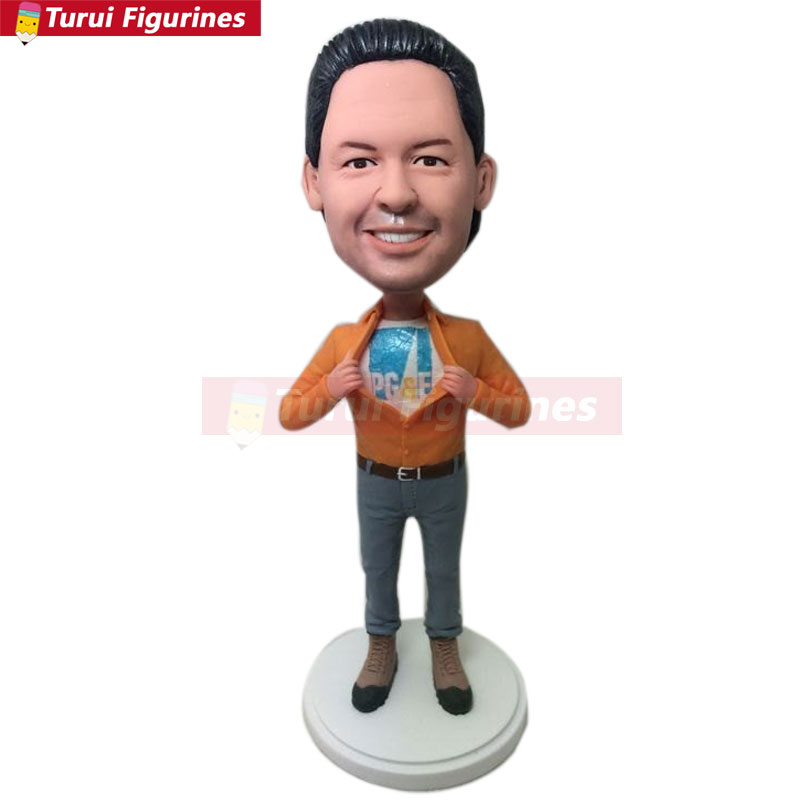 Gifts Hockey Fully Customer Design Bobble Head Clay Figurine Based on Customers Photo Using As Wedding or Birthday Cake Topper Decoration