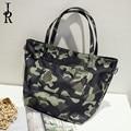 2016 winter new women Messenger bag fashion casual canvas camouflage nylon bucket bag shoulder bags lady shopping handbag bolsa