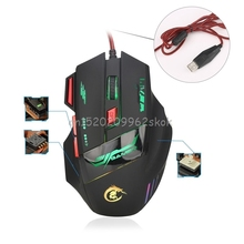 H1000 5500DPI USB Wired Gaming Mouse Mice Hign Quality 7 Keys LED Optical Mouse For Notebook Laptop Desktop Computer #H029#