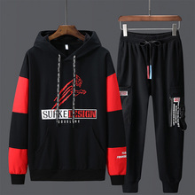 Paragraph Lang Legendary Men Sets autumn 2019 Fashion Sporting Suit Hoodies + pants suit 2 Pieces Slim Hip Hop  Streetwear
