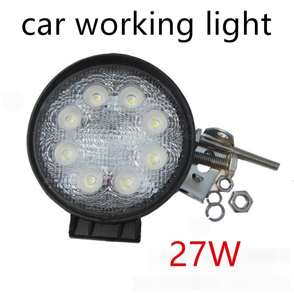 Одна пара 12 В 24 В 27 Вт светодиодный свет работы автомобиля для Off Road Лодка светодиодный дальнего света он заводская цена продажи