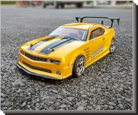 2pcs/set CAMARO 1:10 PVC drift On road painted body shell with wind tail for hsp traxxas tamiya 3racing hpi hobby RC parts