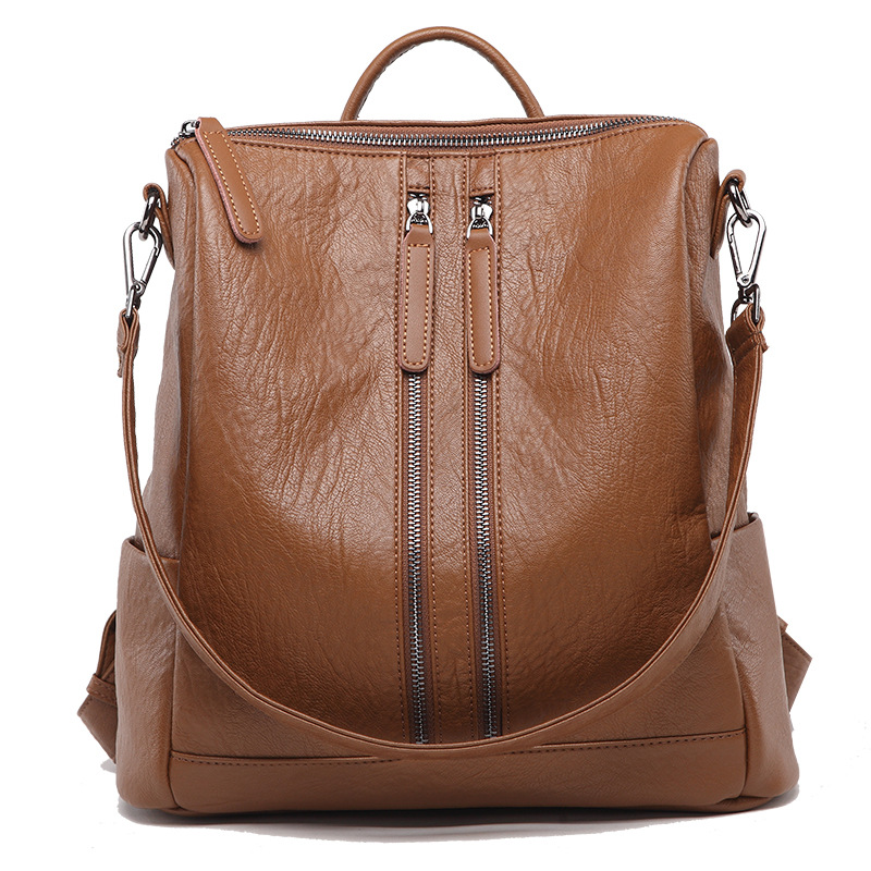 751-7 New Fashion Female Shoulder Bag Waterproof Backpacks Cowhide Leather Backpack Women Bag751-7 New Fashion Female Shoulder Bag Waterproof Backpacks Cowhide Leather Backpack Women Bag