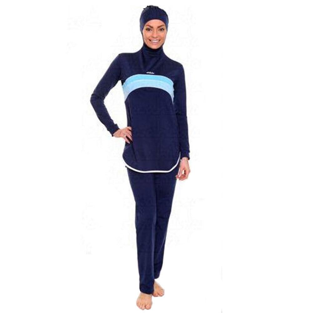 3e759a0770258 Modest Muslim Swimwear Islamic Swimsuit for Women Hijab Swimwear Full Cover  Muslim Swimming Beachwear Swim Suit Set