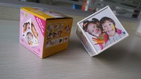 Revolving Rotating Photo Cube Multi Picture Frame 6 Photo Display Office Gift