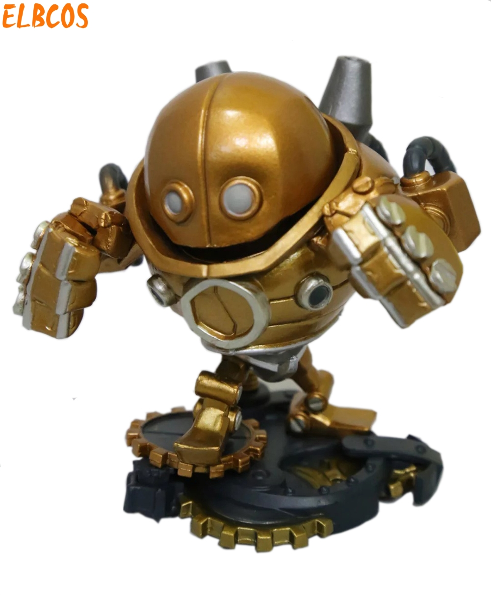 Cosplay LOL Blitzcrank the Great Steam Golem 10cm/3.9'' Q Version PVC Garage Kit Action Figures Toys GK Model vocaloid cosplay hatsune miku q version boxed pvc small gk garage kit action figures model toys 4pcs set