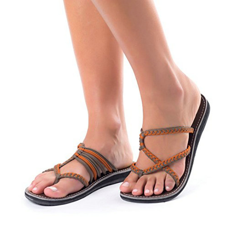 Weaving Women Sandals Gladiator Summer Shoes Woman Rome Style Beach Shoes Female Flat Sandals Ladies Flip Flop big Size 35-43Weaving Women Sandals Gladiator Summer Shoes Woman Rome Style Beach Shoes Female Flat Sandals Ladies Flip Flop big Size 35-43