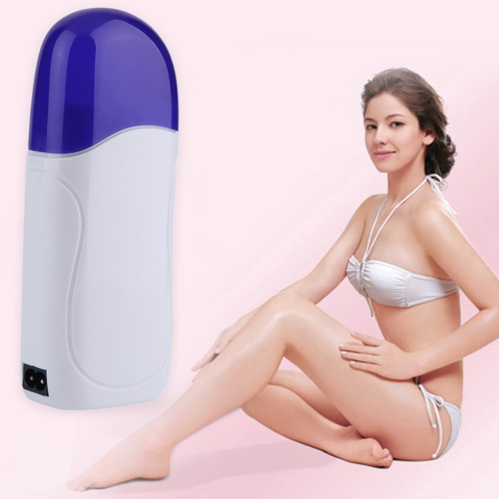 Portatble Electric Depilatory Roll On Wax Heater Roller Waxing Hot Cartridge Body Hair Removal Depilation Waxing Machine Safe