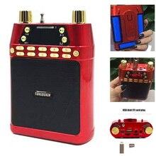 Три ляторной Портативный Динамик USB tf-плеер fm Радио беспроводной мегафон усилитель для Руководство учителя внешний голос громко Динамик