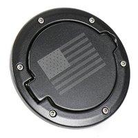 1pc J274 Fuel Filler Door Cover Gas Tank Cap 2/4 Door For Jeep Wrangler JK Black (USA Flag) auto products Lantsun