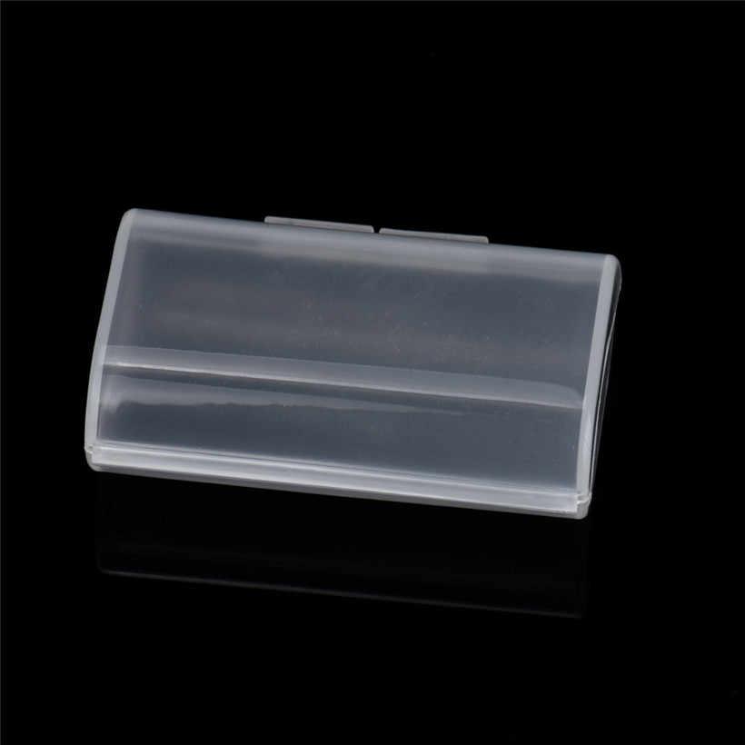 Caliente portátil de plástico duro de la caja de batería de almacenamiento soporte para caja de 2xAA 3 V caída 0803 envío