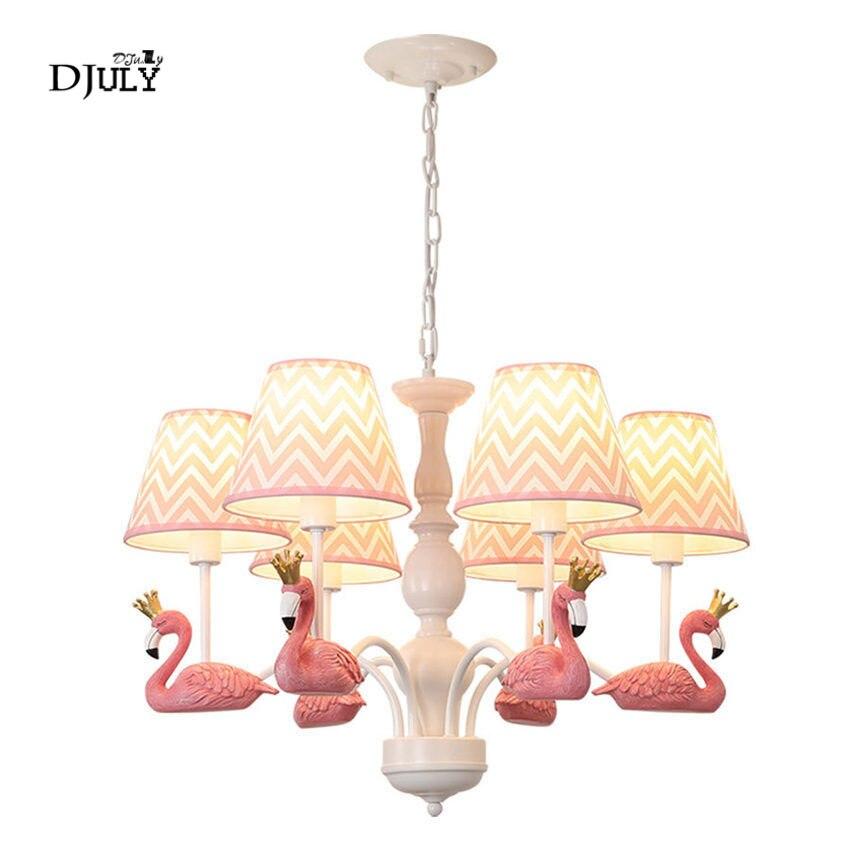 Del bambino di colore rosa per la casa deco Flamingo grande Lampadario di illuminazione per soggiorno camera nursery per bambini appeso luce apparecchi di bambini camera da letto della lampada