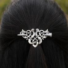 Large Celtics Knots Crown Hairpins Hair Clips Stick Slide Accessories F-08