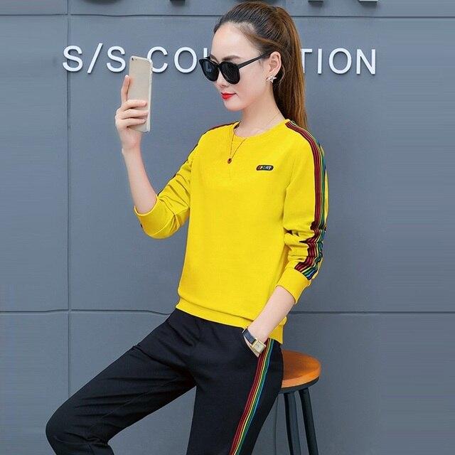 ba57f05334f8 € 34.96 |2018 nueva primavera coreano tracksuit mujeres traje pantalón 2  unidades moda conjunto de las mujeres ropa deportiva casual otoño suéter ...
