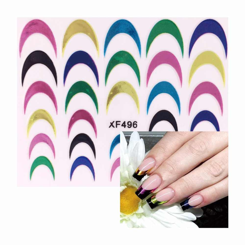YWK 2019 Women Fashion 3D Decals Nail Stickers Foil Polish Wraps Nail DIY Decorations    496