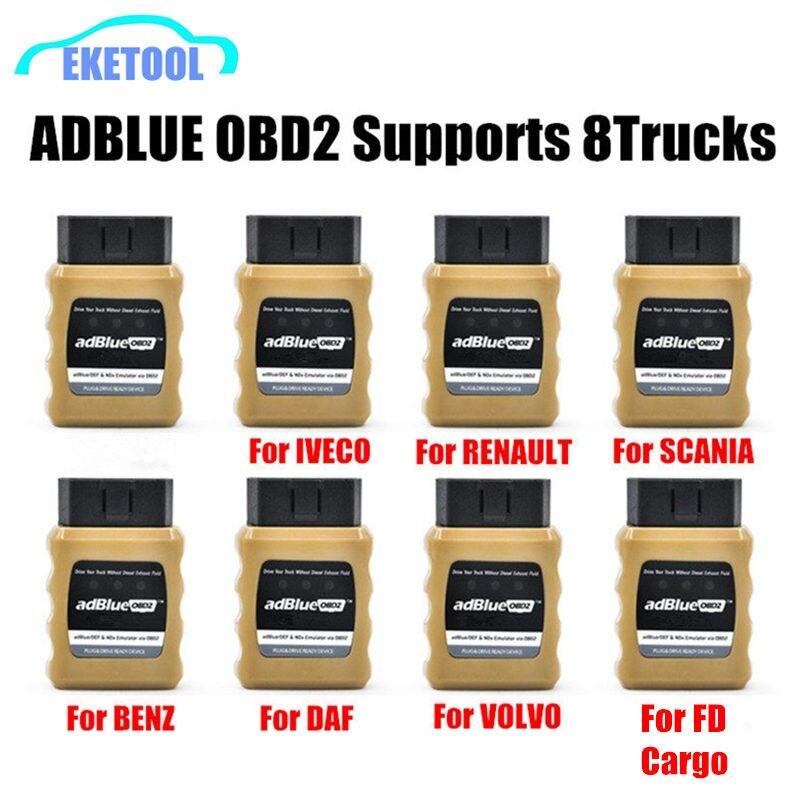 NOX AdBlue Emulador Emulação AdblueOBD2 Plug & Dispositivo de Acionamento Pronto por OBD2 OBD2 Caminhões Adblue Para Volvo/Iveco/ SCANIA/DAF
