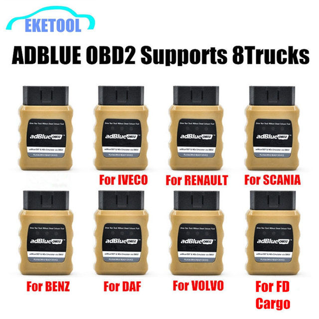 AdBlue Emulator NOX Emulation AdblueOBD2 Plug&Drive Ready Device by OBD2 Trucks Adblue OBD2 For Volvo/Iveco/SCANIA/DAF