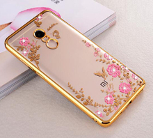 Original TPU Slim Silicone Cover Case For Xiaomi 5X/Redmi 4X/Note 4X/4 Pro 4A 3S 3X Note 3 4C Beautiful Flowers Phone Back Cases