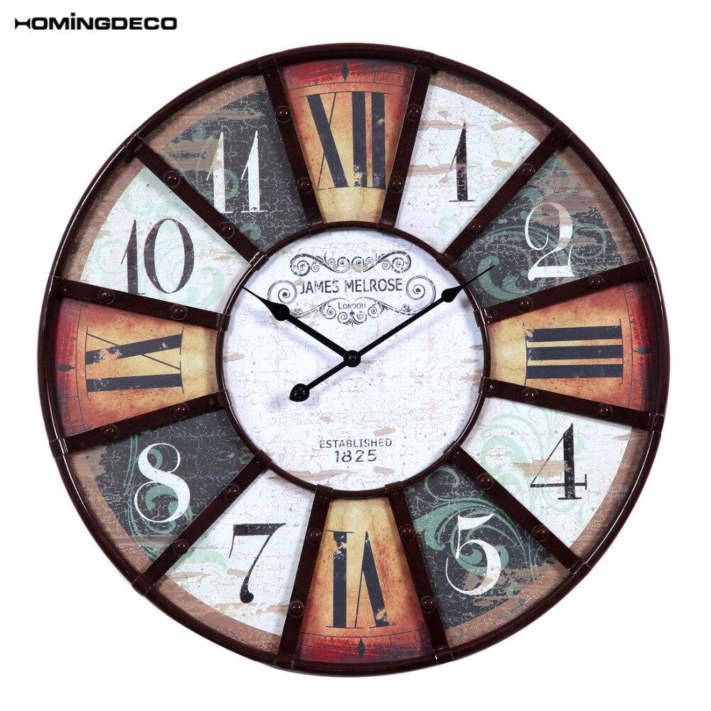 Homingdeco Round Retro European Style Wall Clock Household Living ...