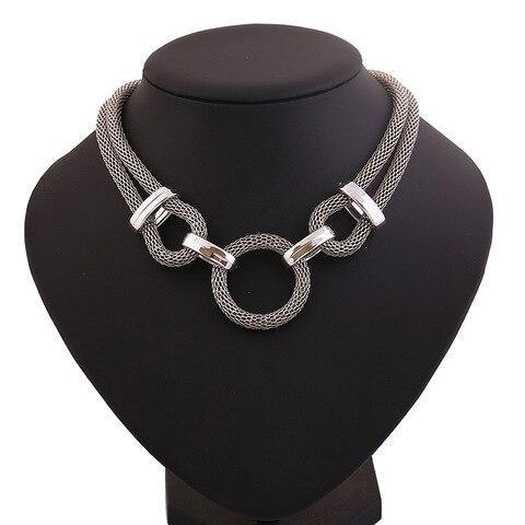 Купить lzhlq геометрическая сетчатая цепочка чокер эффектное ожерелье