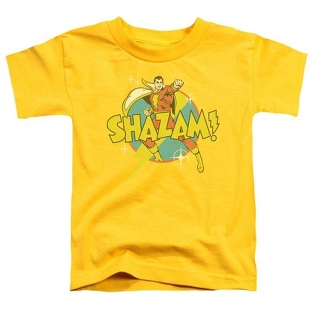 Trevco Dc-Power Bolt – Short Sleeve Toddler Tee – Yellow Small 2T