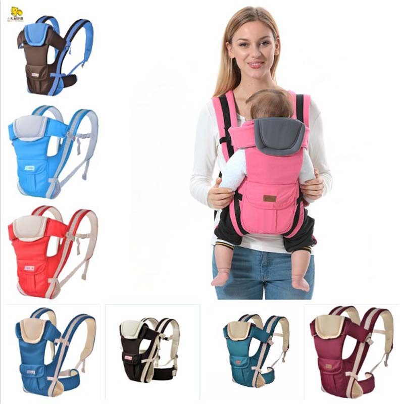 0 30 months breathable front baby carrier 4 in 1 baby comfortable strap backpack bag baby kangaroo style carrier drop shipping in Backpacks Carriers from Mother Kids