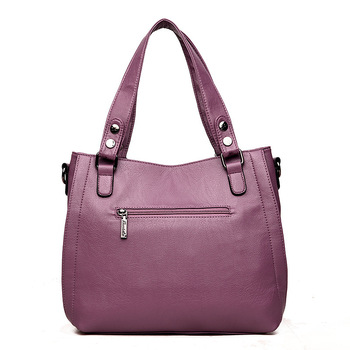 2018 Luxury Brand Women Leather Handbag 100% Genuine Leather Casual Tote Bags Female Big Shoulder Bags for Women 2019