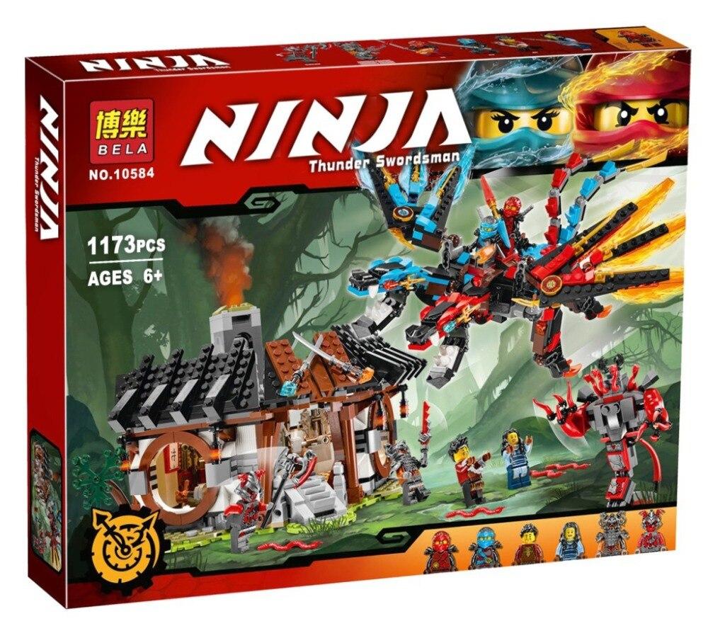 2017 NUEVOS Juguetes dragón de Forjar Ninja 10584 Modelo Compatible con comida rápida Bloques de Construccion