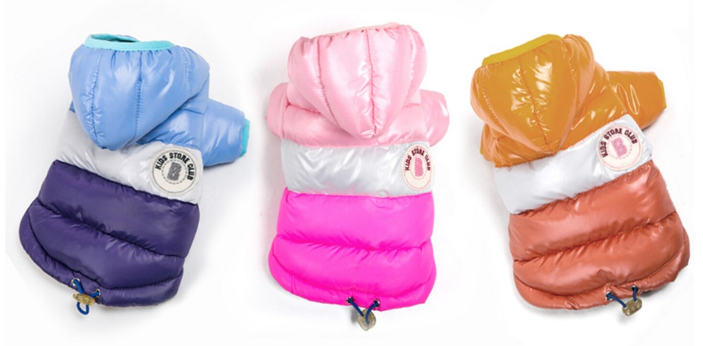 Pet Dog Winter Jacket Clothing For Small Dogs Waterproof Thickening Dog Down Jacket Clothing For Pet Dogs Costume X-XXL Pinlk