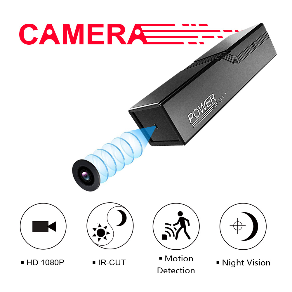 HD 1080P Portable Camera Mini Outdoor Surveillance Infrared Night Vision Cam Motion Detection IR CUT security