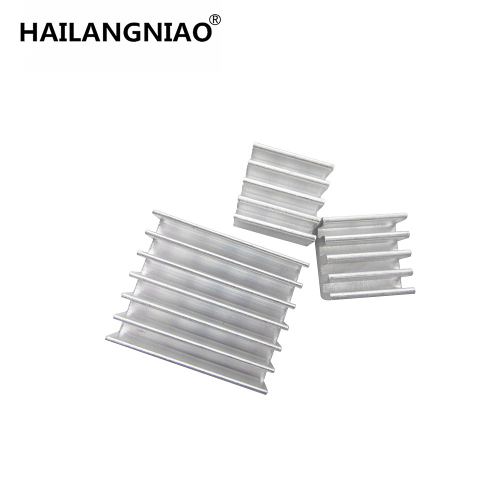 10Set/lot Adhesive Raspberry Pi 3 Heatsink Cooler Pure Aluminum Heat Sink Set Kit Radiator For Cooling Raspberry Pi 2 B 10pcs lot ultra small gvoove pure copper pure for ram memory ic chip heat sink 7 7 4mm electronic radiator 3m468mp thermal