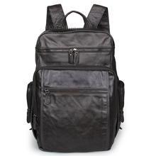Men backpack leather-based luxurious males backpack vogue real leather-based males model backpack actual cow leather-based male backpack gentle gray