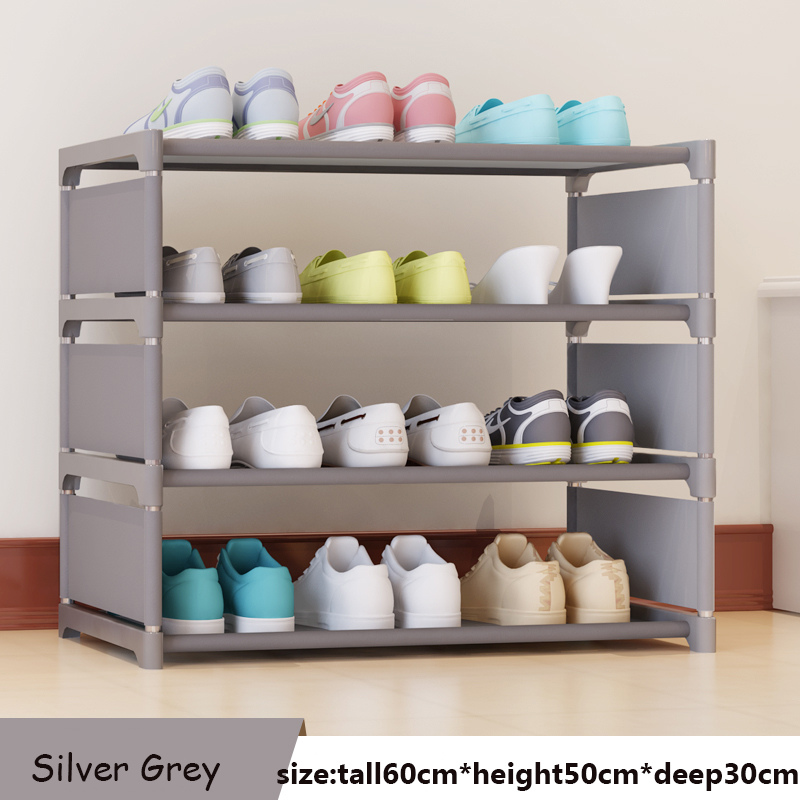 Shoe Rack Easy Assembled Plastic Multiple layers Shoes Shelf Storage Organizer Stand Holder Keep Room multiple layers shoe rack plastic parts steel pipe shoes shelf easy assembled storage organizer stand holder space saving