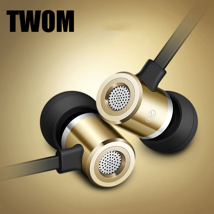 TWOM F1 HiFi Metal In Ear Earphones with Microphone for a Mobile Phone Headset Stereo Universal Wired Earbuds Subwoofer Earpiece x6 hifi dj bass in ear earphones with microphone for mobile phone universal wired earbuds subwoofer headset for iphone 6 xiaomi