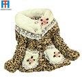 High Quality 1 pcs Girl Leopard Print Faux Fur Coat Winter Autumn Flower Baby Outerwear Clothes Girls Jacket Children Coat