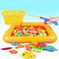50 Unidades set pesca Imán Magnético juego juguetes Simulación estanque de Peces caña de pescar kids niños regalo de cumpleaños juguetes clásicos