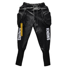Spring Summer Fashion Hip Hop Joggers Cargo Harem Pants Leisure Men Long Big Classic Pockets Zippers Avantgarde White Black(China)