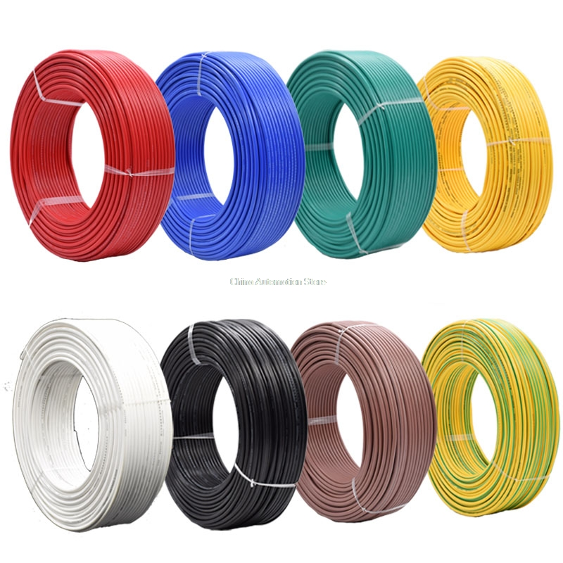 5 Meters/lot 0.3-<font><b>6</b></font> MM2 Auto Cable 12/24V 16/0.2mm Stranded Copper Single <font><b>Core</b></font> Thinwall Car Boat Van Vehicle <font><b>Wire</b></font> Connection <font><b>Wire</b></font> image