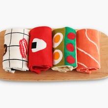 2018 Cartoon Women Short Socks Creative Life Series Sushi Rice Ball Female Cotton Funny Socks Cuisine Japanese Sweets Food Socks