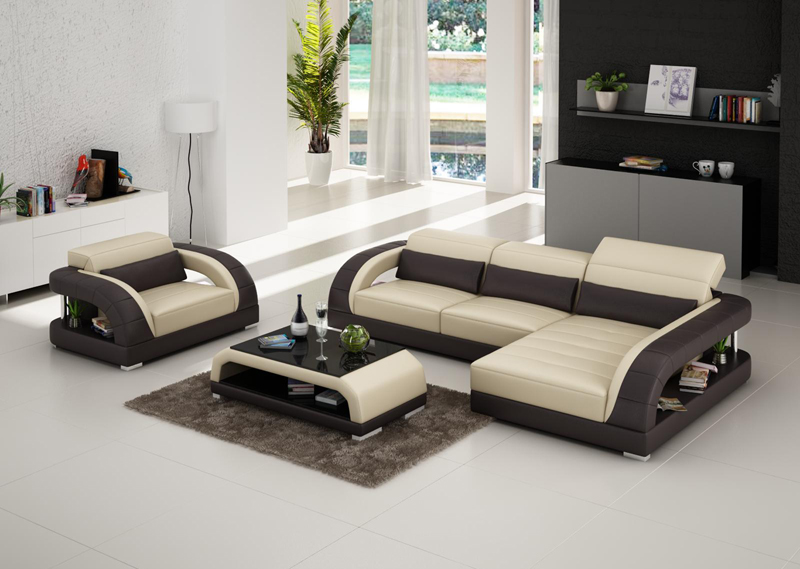 Modern design cheap price living room genuine leather sofa - Living room sets for cheap prices ...