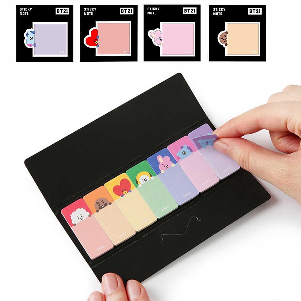 1pcs Kawaii Papelaria Memo Pad Marcadores Criativo Bonito Material Escolar Papel Sticky Notes N Vezes Animais Adesivos Dropship
