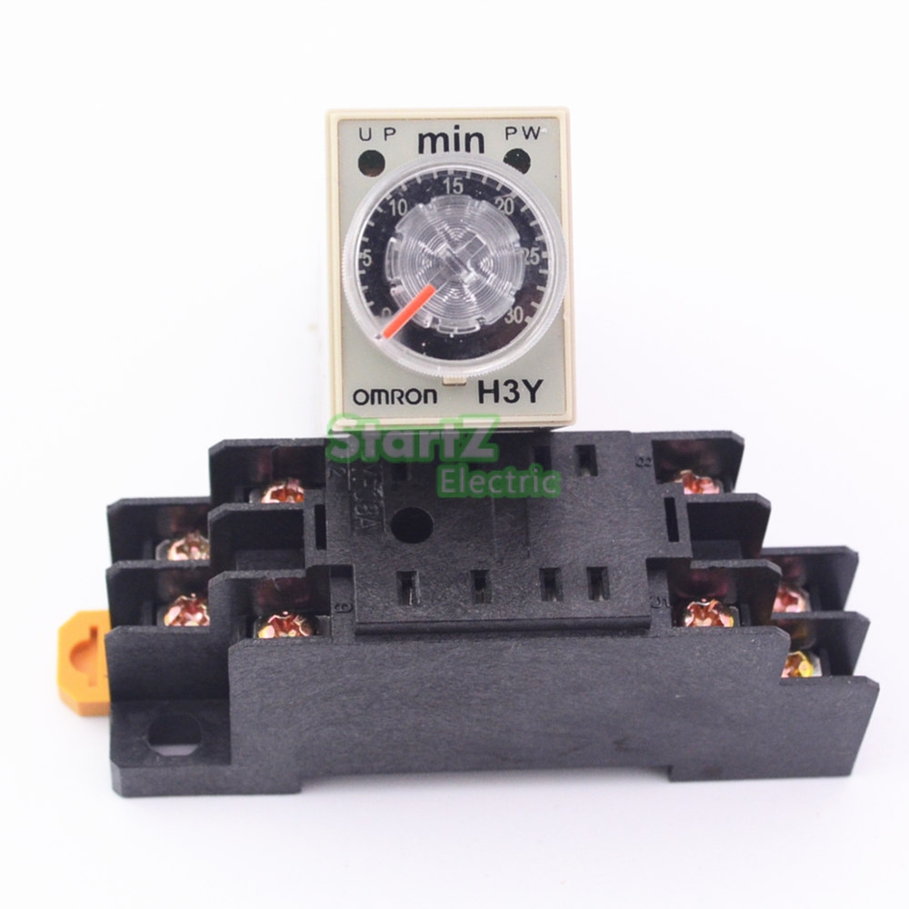 цена на H3Y-2 AC 220V Delay Timer Time Relay 0 - 30 Minute with Base