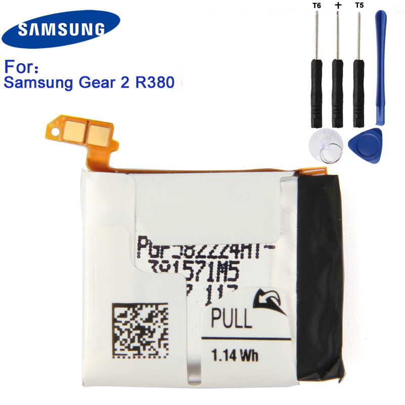 Original Samsung Battery Gear 2 SM-R380 For Samsung Gear2 R380 SMR380 SM-R381 Authentic Replacement Battery 300mAhOriginal Samsung Battery Gear 2 SM-R380 For Samsung Gear2 R380 SMR380 SM-R381 Authentic Replacement Battery 300mAh
